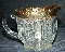 Tarentum Glass EAPG Paneled English Hobnail Gilded Creamer
