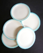 Buffalo China Restaurant Blue Spray Mist Bread & Butter Plates
