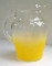 Anchor Hocking Yellow Frosted Blendo Style Beverage Pitcher