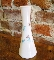 Eames Era Retro Atomic White Milk Glass Starburst Vase