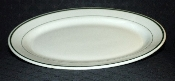 Jackson China Vitrified Green Stripe Large Restaurant Platters