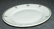 Warwick China Restaurant Green Monogrammed Bread Plates