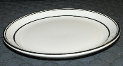Buffalo China Restaurant Ware Black Banded Luncheon Plates