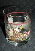 Debbie Mumm Sledding Characters Double Old Fashion Glasses