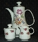Meissen Rose Colditz Pottery GDR 5 Piece Coffee Service