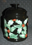 Dunoon Caroline Bessey Holly Cookie Jar Canister