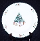 Salem China Whimsical Christmas Salad Plates
