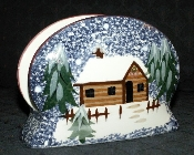 Living Quarters Holiday Mountain Lodge Napkin Holder