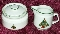 Mount Clemens Pottery Christmas Tree Creamer & Sugar Bowl