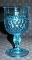 Indiana Glass Ice Blue Diamond Point Water Goblets