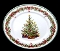 Christopher Radko Holiday Celebrations Salad Plates