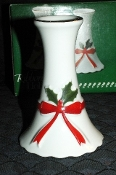 Mt Clemens Pottery Ribbon & Holly Candle Holders