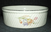 Hall China Tulips Superior Quality Fluted French Baker Souffle