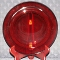 Arcoroc Classique Ruby Red Glass Salad Plates
