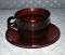 Arcoroc Classique Ruby Red Glass Cup & Saucer Sets