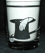 Kraftware Black Top Hat Double Old Fashion Glasses