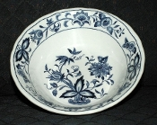 Nikko Harmony House Blue Bonnet Ironstone Cereal Bowls