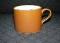Williams Sonoma Orange Banded Stoneware Flat Cups
