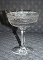 Fostoria Needle Etch 94 Double Loop Champagne Glasses