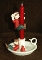 PartyLite Santa's Elves Saucerlite Candle Holder