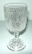 Jeannette Glass Iris & Herringbone Liquor Glasses