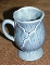 Metlox Poppytrail Lotus Medium Blue Footed Mugs