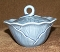 Metlox Poppytrail Lotus Medium Blue Covered Sugar Bowl