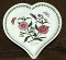 Portmeirion Botanic Garden Purple Rock Rose Heart Shaped Dish