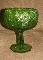 LE Smith Heritage Quintec Antique Green Cupped Bowl Comport