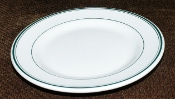Bailey Walker Green Stripe Restaurant Bread Butter Plates