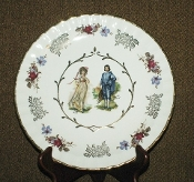 Wood & Sons Blue Boy & Pinky Girl Plates