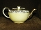Antique Sudlow Burslem England Lemon Yellow Teapot