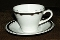 Burgess & Leigh Burleigh Ware Platinum Banded Cup Saucer Sets