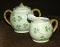Antique Erin Carrigaline Shamrock Luster Creamer & Sugar Bowl