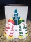 PartyLite Snowmen Pillar Candle Holder