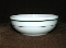 Corning Pyrex Decor White Green Stripe Chili Bowls