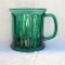 Vintage Green Glass Paneled Oversized Mug
