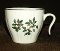 Ivory Porcelain Holly Berry Hook Handle Punch Cup Set