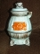 Vintage Nanco Boston Japan Ceramic Cookie Jar Pot Bellied Stove