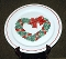 Treasure Craft Holly Heart Wreath Serving Platter