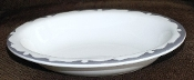 Buffalo China Gray Crest Oval Serving Bowl