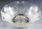 Jeannette Glass Iris & Herringbone Crystal Fruit Bowls