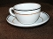 Albert Pick Liberty Black Orange Stripe Restaurant  Cup Saucer