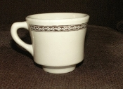 Jackson China Restaurant Tan Brown Geometric Cup