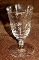 Libbey Rock Sharpe Normandy Star of David Foot Juice Glasses