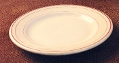 Sterling Restaurant Desert Tan Red Stripe Side Plates