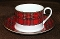 Royal Crown Duchy Stewart Tartan Plaid  Cup & Saucer Sets