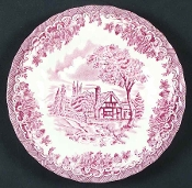 Churchill China Brook Pink Bread Butter Plates