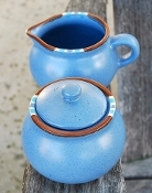 Dansk Mesa Blue Creamer Sugar Bowl Sets