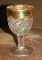 Indiana Glass Juno Double Pinwheel Gold Flashed  Water Goblets